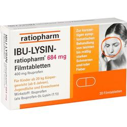 IBU LYSIN RATIOPHARM 684MG